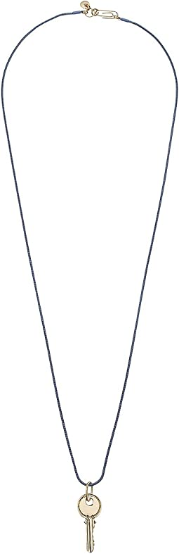 "Key Pendant Necklace 30"""