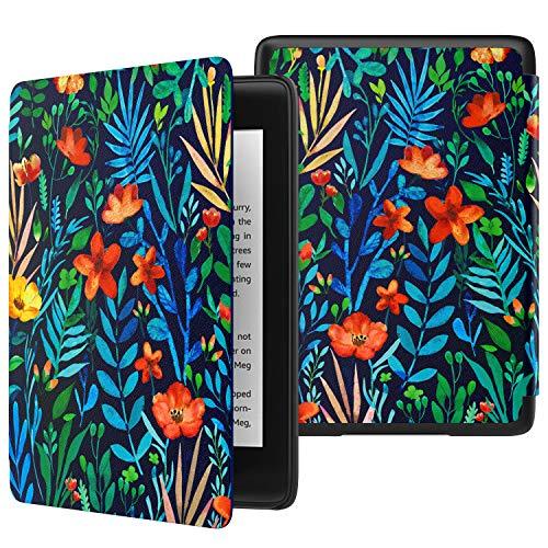 MoKo Funda para Kindle Paperwhite (10th Generation, 2018 Release), Funda de SmartShell Delgada y Ligera con Auto Sueño/Estela para Amazon Kindle Paperwhite E-Reader - Noche de la Jungla