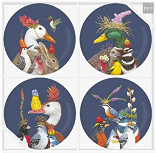 Paperproducts Design PPD 603367 Group Chat Plate Set of 4, 7