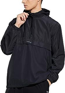 BALEAF Men's 1/2 Zip Jackets Lightweight Waterproof Windbreaker for Running Track Cycling