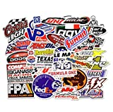 Car Stickers [50 Pieces], Laptop Stickers Motorcycle Bicycle Skateboard Luggage Decal Graffiti Patches Stickers for Laptop [No-Duplicate Sticker Pack] (Racing Sticker)
