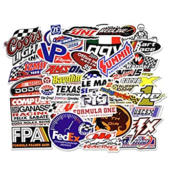 Car Stickers [50 Pieces] Laptop Stickers Motorcycle Bicycle Skateboard Luggage Decal Graffiti Patches Stickers for Laptop [No-Duplicate Sticker Pack]  Racing Sticker