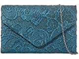 H&G Ladies Satin Lace Clutch Bag Shoulder Chain Elegant Wedding...