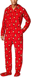 Family Pajamas Men's Holiday One-Piece Jumpsuit Onesie