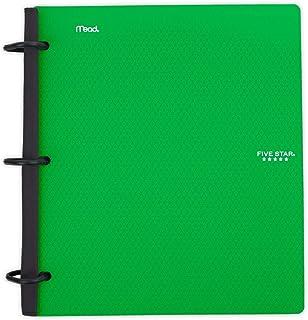 Five Star Flex Hybrid NoteBinder, 1-1/2 Inch Binder, Notebook and Binder All-in-One, Green (29324AQ8)
