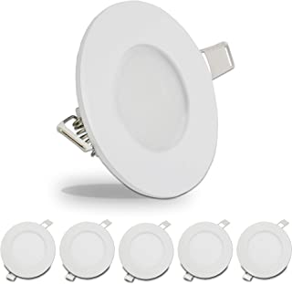 5 Pack Leisure LED RV Boat Recessed Ceiling Light 240 Lumen Super Slim LED Panel Light DC 12V 3.375