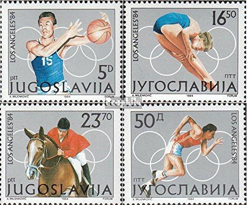Joegoslavië Mi.-Aantal.: 2048-2051 (compleet.Kwestie.) 1984 Spelen Zomer (Postzegels voor verzamelaars) Olympische spelen