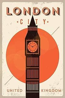 London City Big Ben Retro Travel Art Cubicle Locker Mini Art Poster 8x12