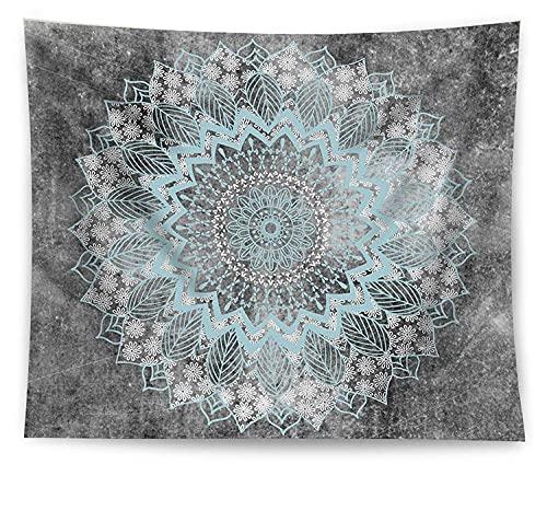 MIKUAJ tapizTapiz con Estampado de Mandala de poliéster, Tapiz para Colgar en la Pared, Alfombra para Yoga, Manta de Playa, Tapiz de Pared Grande para Dormir