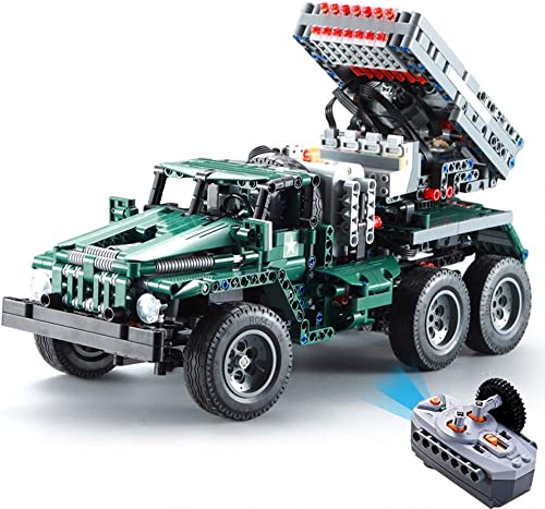 salida para la venta AIYA 1369pcs RC Rocket Rocket Rocket Launcher Truck Car 2in1 Creator Technic Militar Potencia funcation Moc Bloques de construcción Ladrillos legoings Juguetes para cumpleaños Regalo Niños  despacho de tienda