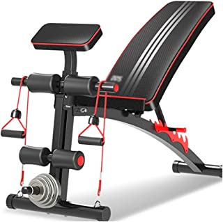 Folding Supine Board Exercise Bench Home Weights Bench Gym Bench Press, Load Capacity 150kg (Color : Black, Size : 140 * 5...