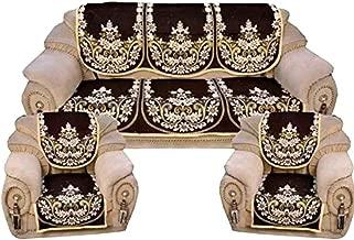 ElegantHomes Latest 5 Seater Sofa Cover - Set of 6 - Coffee