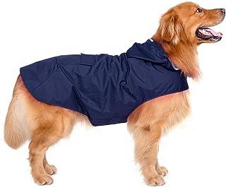 Decdeal - Chubasquero con Gorro para Perro Grande, Azul