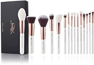Jessup Brand 15pcs Pearl White/Rose Gold Makeup Brushes Make up Tool Kit Beauty Professional Eyeshadow Power Lipstick Blending Cheeck Cosmetic Brushes Set T220