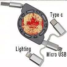 Gogh Yeah para Chicos con Canadian Flag Multa En USB Data Cable Cable Flexible