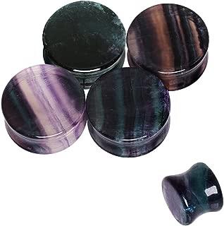 rainbow fluorite plugs