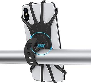 Suporte de telefone para celular de motocicleta dodocool, suporte de telefone de silicone com rotação de 360° com suporte ...