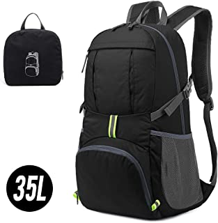 Lixada 35L Lightweight Packable Backpack Water Resistant Hiking Daypacks with Reflective Stripe