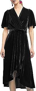 black velvet wrap dress