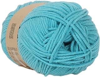 Clearance Sale ! Milk Cotton Wool,Vanvler 1PC 50g Chunky Colorful Hand Knitting Baby Crochet Knitwear Yarn (I2)