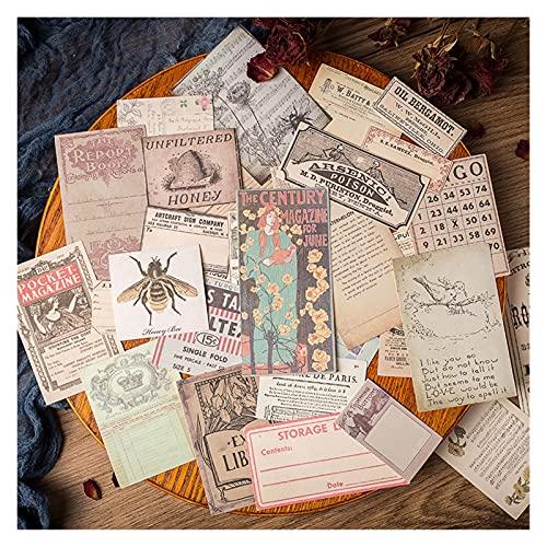 FQDSWS Old Book Pages Poster Pegatinas Diario Scrapbooking Craft Diary Album Vintage Sello Puntuación Pegatinas Pegatinas Decorativo Estudiante Hecho A Mano Pegatinas