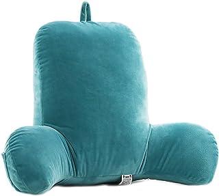 Oamore Comfort - Cojín de lectura relleno, cojín lumbar y cuña, funda lavable, reposabrazos estable, lectura o trabajo en la cama