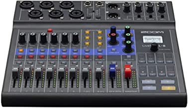Zoom LiveTrak L-8 Podcast Recorder, Battery Powered, Digital Mixer and Recorder, Music Mixer, Phone Input, Sound Pads, 4 H...