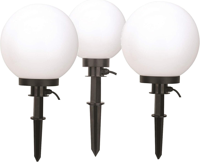 Bestseller Kugelleuchte Gartenlampe Auenleuchte Marlon im 3er Set Drm. 20+30+30cm Auenlampe Kugellampe mit Erdspie, E27, Dekoleuchte Gartenbeleuchtung