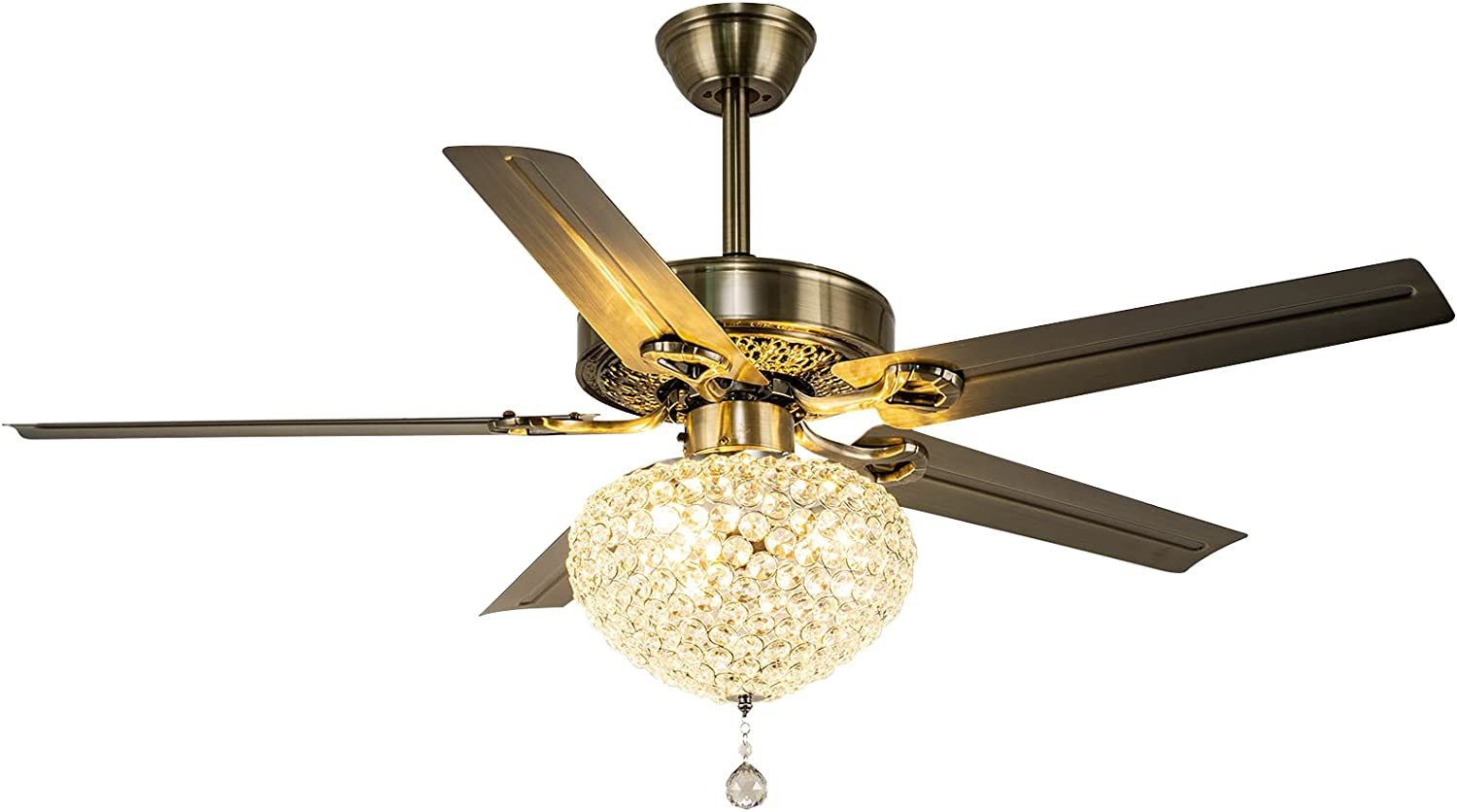 Modern OFFicial Ceiling Fan with Chandeliers Crystal Kit Light Award-winning store