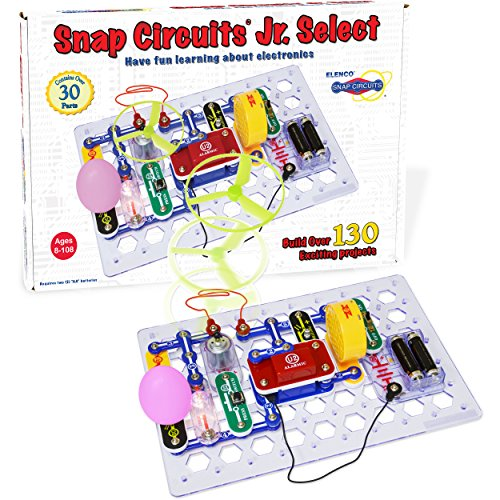 Snap Circuits Jr Select SC130 Electronics Exploration Kit | Over 130 Projects | Full Color Project Manual | 30 Parts | STEM Educational Toys for Kids 8