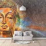 3D Fototapete Wandbild Buddha Kopf Aufkleber selbstklebende leinwand für Schlafzimmer Wohnzimmer Tv Hintergrund Wanddekoration Wandbilder 200cm(W) x150cm(H)-4 Stripes