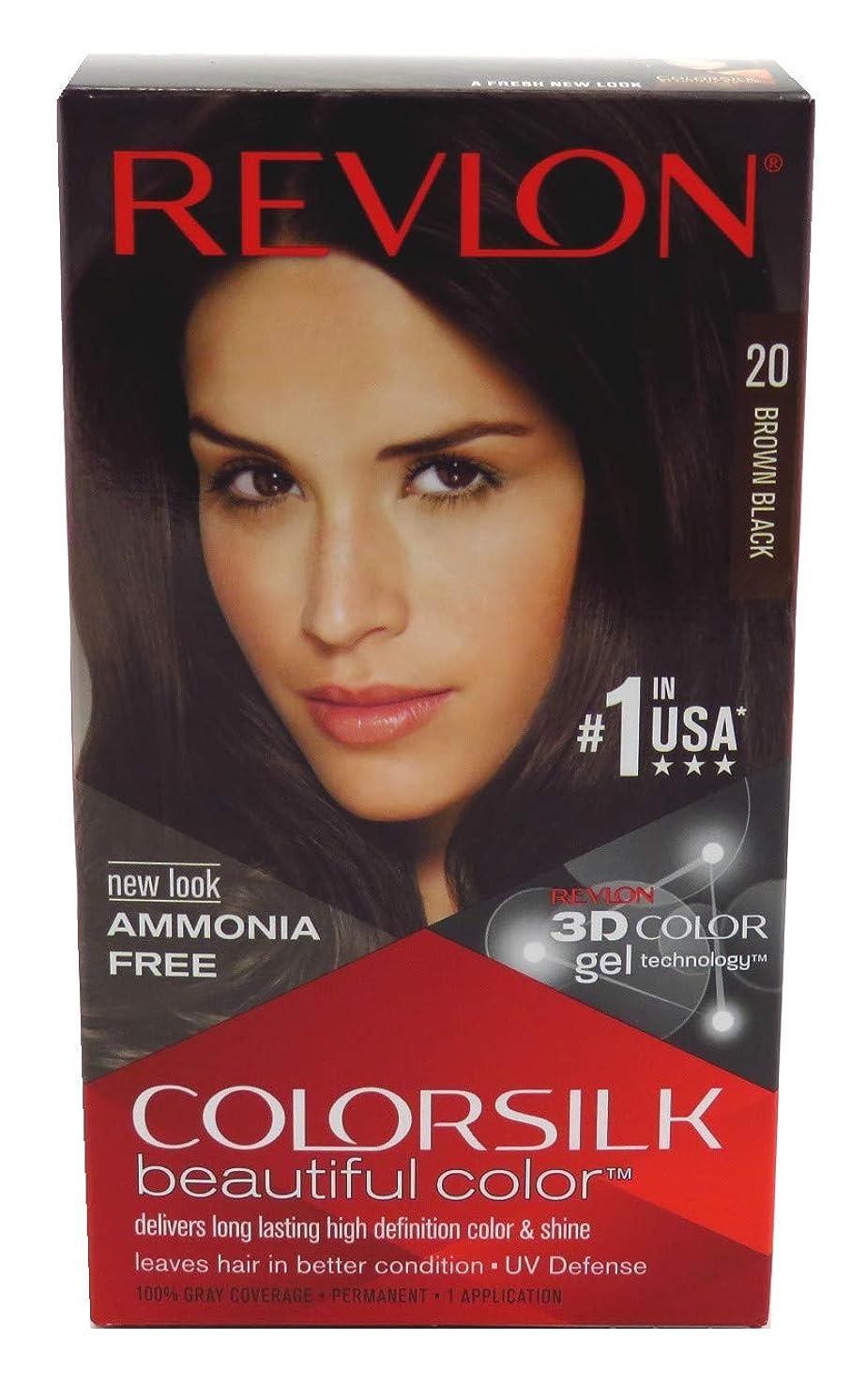 進化する離婚寄生虫Revlon Colorsilkヘアカラー20ブラウンブラック、3パック ブラウン、ブラック