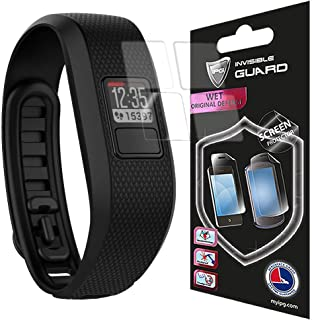 for Garmin Vivofit 3 Screen Watch (4 Units) Protector Skin Lifetime Replacements Anti - Bubble/Touch Responsive/Ultra HD P...