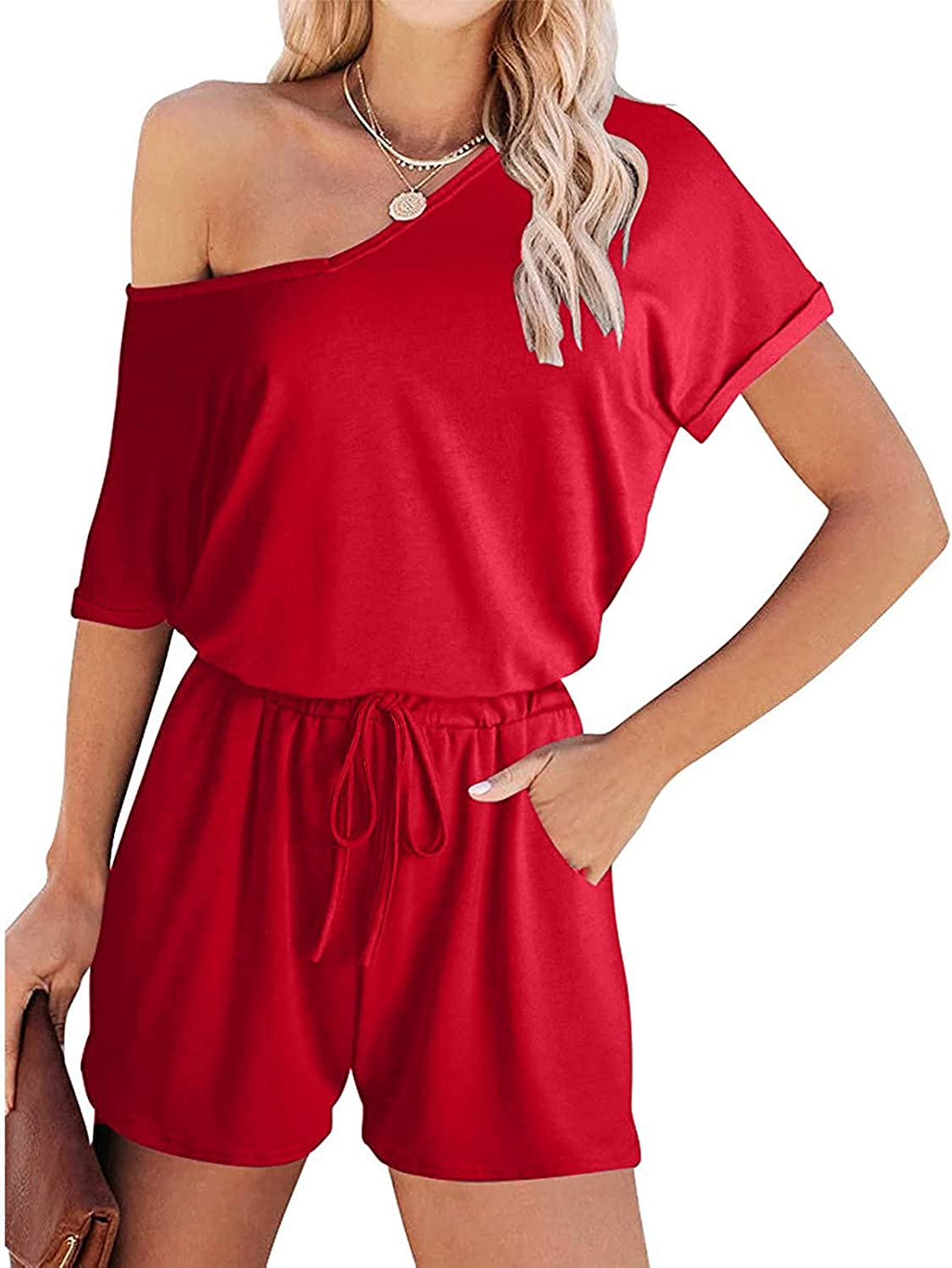 Tainilawo Summer Jumpsuits for Year-end gift Women Plus Sle High material Size Rompers Short