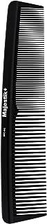 Peine de pelo - un peine de fibra de carbono de peluquería profesional de Majestik +, fuerza y durabilidad, diente medio y fino, negro (MPC-002), con bolsa de producto libre de PVC