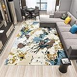 alfombras para casa Azul Alfombra de Sala de Estar Azul Graffiti patrón Abstracto Alfombra Suave antiácaros Alfombra Antideslizante Salon 200X300CM alfombras niño 6ft 6.7''X9ft 10.1''