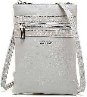 TWOPAGES Women PU Leather Crossbody Cellphone Shoulder Bag Lightweight Purses and Handbags