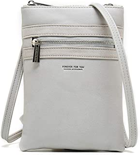 Women PU Leather Crossbody Cellphone Shoulder Bag Lightweight Purses and Handbags