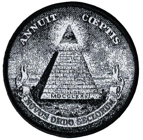 Annuit Coeptis Embroidered Patch Illuminati Great Seal Iron-On Masonic Pyramid