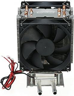 KKmoon Kit de semiconductores de refrigeración por Bricolaje 12V Refrigeración por Agua Aire Acondicionado Refrigerador electrónico CPU Cabeza de Agua (12V 108W)