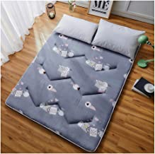 Futon Tatami Mattress,Student Dormitory Folding Mattress,Portable Thicken Pad Tatami Floor mat,Single/Double Mattress,Gray