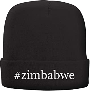 BH Cool Designs #Zimbabwe - Adult Hashtag Comfortable Fleece Lined Beanie
