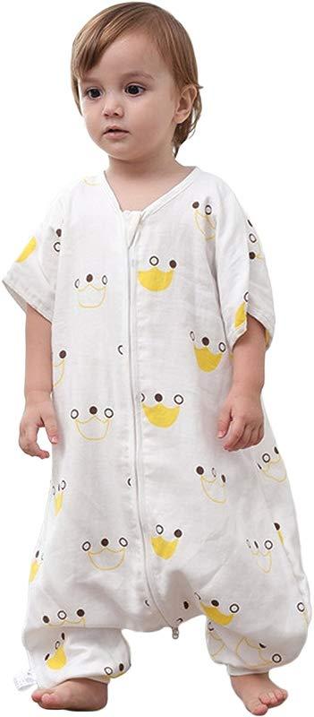Kisbaby Toddler Sleeping Sack Three Layer Muslin Wearable Blanket