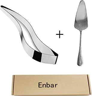 Enbar stainless steel cake slicer and stainless steel cake shovel, cake server stainless steel perfect cake, pies and past...