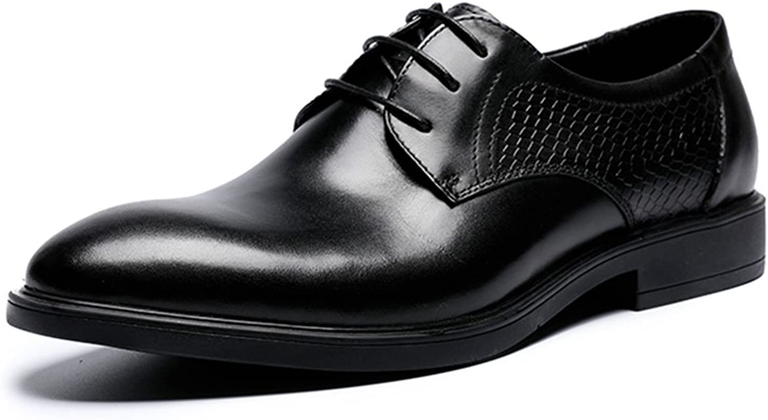 KTYXGKL Men's Business shoes Classic Pointing Men's shoes Fashion High-end Flat Casual shoes Wedding Work shoes 38-44 Yards Men's leather boots (color   Black, Size   5 UK)
