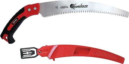 Kamikaze 2979 Serrucho curvo con diente blando, Rojo y negro