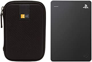 Seagate 2TB Game Drive for Playstation 4 (Black) + Compact Hard Drive Case