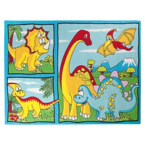 Tappeto per bambini, con motivo 'Dino', 95 x 133 cm