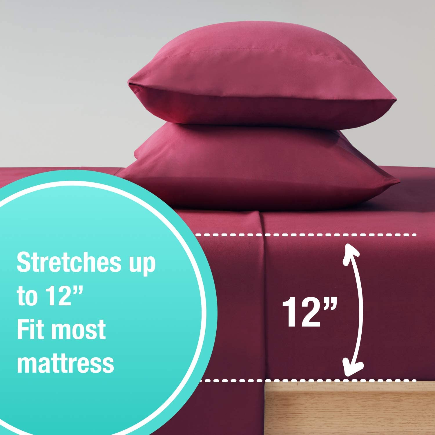 1 Fitted with Deep Pocket Fits Most Mattress Soft Brushed 1800 Microfiber Blend Bed Sheet Wrinkle 1 Flat Shrinking /& Color Fade Resistant 1 Pillowcase Twin XL Bed Sheets Set 3 Piece