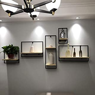 Étagère Mur de Hanging Shelf naturel flottant en bois en bois Mounted Display Shelf salle à manger Affichage Salon Cuisine...